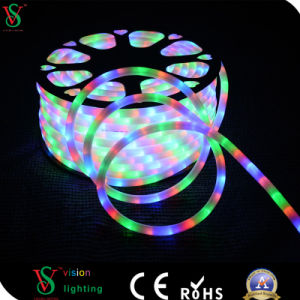 Clear Tube RGB Rope light for Christmas Decoration pictures & photos