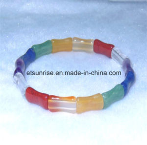 Semi Precious Stone Fashion Crystal Beaded Bracelet Jewelry Bangle <Esb01214> pictures & photos