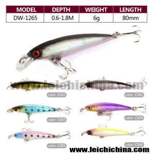 6 Color Per Set 6g 80mm Three Directions Hooks Hard Fishing Lure Parts pictures & photos