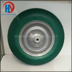 Metal Rim with Bearings 3.50-8 Solid PU Foam Wheel pictures & photos