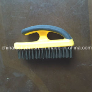 Steel Wire Plastic Board Brush with Handle (YY-509) pictures & photos