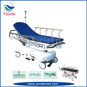 Backrest X Ray Aluminum Alloy Side Rail Hospital Stretcher with Hydraulic Control pictures & photos