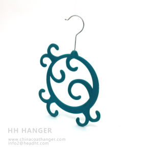 New Design Velvet Tie Hanger, Multifunctional Flocked Hangers pictures & photos