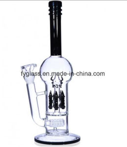 Glass Water Pipe with Showerhead Perc to Rocket Perc pictures & photos