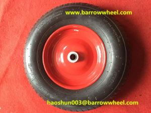 4.00-8 Wheelbarrow Rubber Wheel with Metal Rim pictures & photos