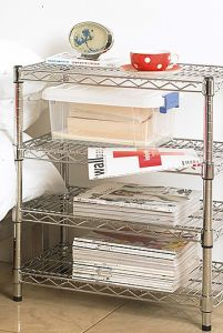 Decorative Metal Book Shelf, DIY Book Wire Shelving, Book Rack (HD143034A3C) pictures & photos
