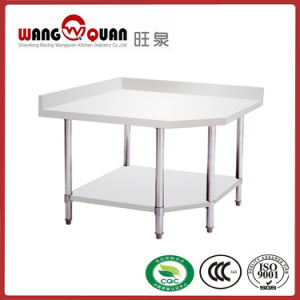Commercial Kitchen Corner Unit Type Stainless Steel Table pictures & photos