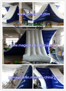 Giant Lake Inflatable Platform Slide Jumping Inflatable Water Slide Inflatable Island (MIC-060) pictures & photos