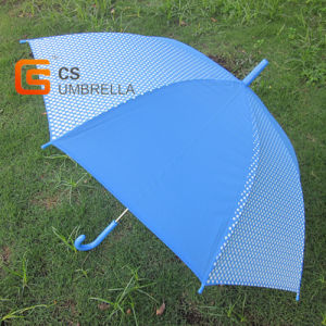 21inches Blue Poe Umbrella with White Dots (YSD004B) pictures & photos