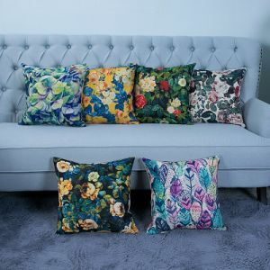 Digital Print Decorative Cushion/Pillow with Botanical&Floral Pattern (MX-23) pictures & photos