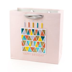 Happy Birthday Promotional Gift Bags with Hot Stamping, Paper Gift Bag, Art Paper Gift Bag pictures & photos