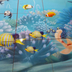 3D Sea World Decoration Material Background Polished Porcelain Wall Tiles pictures & photos