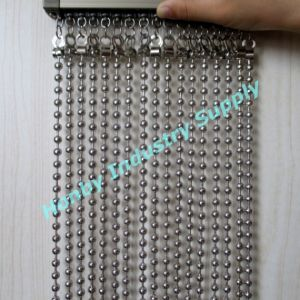 China Hot Sell Custom Made 8mm Shining Metal Ball Chain