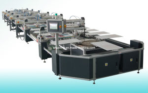 Oval Fully Automatic T Shirt Screen Printer, Automatic Textile Screen Printing Machine pictures & photos