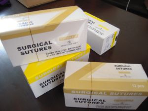 Medical Supply, Disposable Surgical Suture Chromic Catgut Thread with Needles USP2#-5/0 pictures & photos