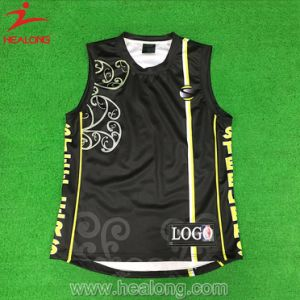 Healong Fully Sublimated Cago Printing Basketball Singlet (vest) pictures & photos