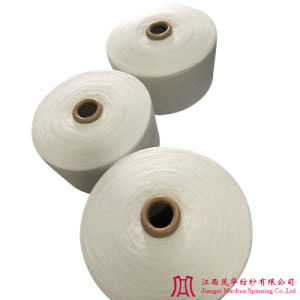 Recycled Bleached Polyester Cotton Yarn (21s)