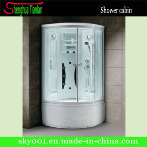High Tray Quality White Glass Sector Shower Cabinet (TL-8847) pictures & photos