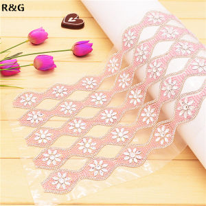 24*40cm Hot Fix Rhinestone Mesh Trimming for Decoration Rgd-049
