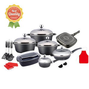 26PCS Die-Cast Aluminum Non-Stick Cookware Set pictures & photos