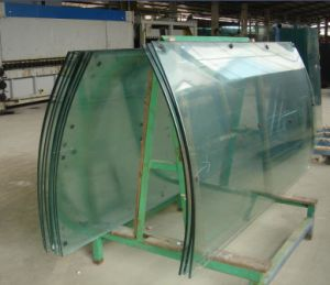 Bend/Curved Tempered Glass for Curtain Wall (JINBO) pictures & photos