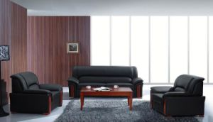 Solid Wood Office Sofa Op-F327