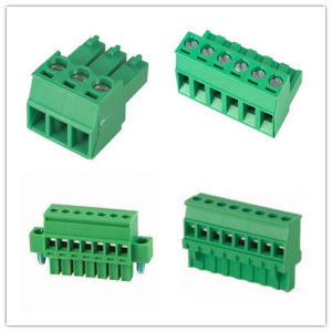 Universal 5.0mm 5.08mm Pitch Plug in Terminal Block pictures & photos