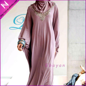 2014 Gorgeous Long Sleeve Maxi Dress Muslim Abaya