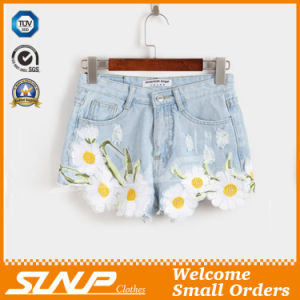 Women Clothes Embroidery Fashion Denim Short