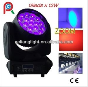 19*12W RGBW 4-in-1 Zoom LED Moving Head Light pictures & photos