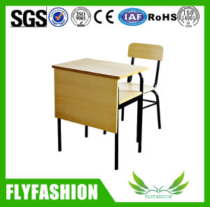 Education Furniture Single Student Table and Chair (SF84S) pictures & photos