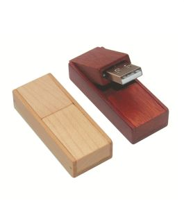 Promotional Wooden Rotate USB Flash Drive Gift pictures & photos