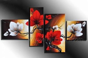 Handpainted Home Decoration Flower Oil Painting (FL4-138) pictures & photos