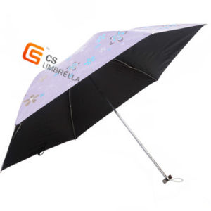 3 Fold Design Cloth Advertising and UV Protect Rain/Sun Umbrella (YS-3F4002A)