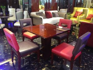 Luxury Hotel Dining Furniture/Chair and Table for Star Hotel/New Design Restaurant Furniture/Luxury Hotel Dining Set/One Table with 4 Chairs (GLDSD-004) pictures & photos