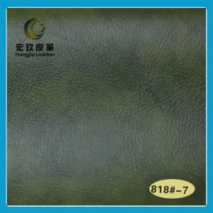 Superior Soft and Anti-Mildew Semi-PU Furniture Leather (HJ-818#) pictures & photos