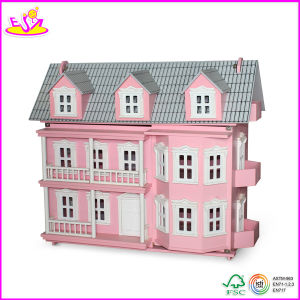 2014 New Wooden Kids Dollhouse Set, Popular Colorful Children Toy Dollhouse and Hot Sale Baby Dollhuse Toy W06A031 pictures & photos
