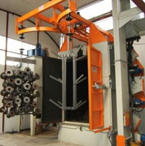 Hanger / Hook Type Shot Blasting / Shot Blast / Shotblaster Machine with BV, ISO and SGS. pictures & photos