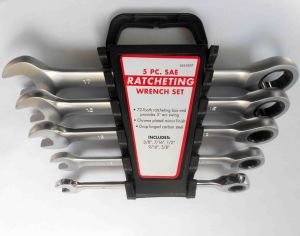 5PC Ratcheting Spanner Set, Ratchet Wrench Set, Gear Spanner Set (WTCG5PC) pictures & photos