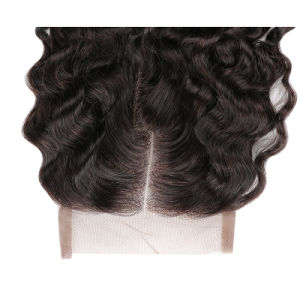 5X5 Lace Closure 7A Brazilian Loose Wave Lace Closure Middle Three Part Loose Curly Lace Closure with Baby Hair pictures & photos