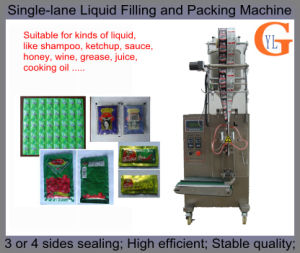 Single-Lane 3or4 Sides Sealing Honey/Condensed Milk Filling and Packing Machine pictures & photos