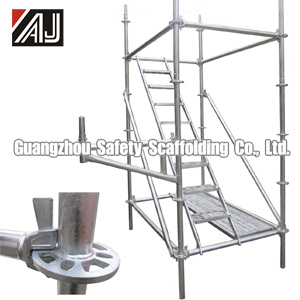 Steel Ringlock Scaffolding (DIP painted, electrogalvanized, hot-DIP galvanized or powder coated) pictures & photos
