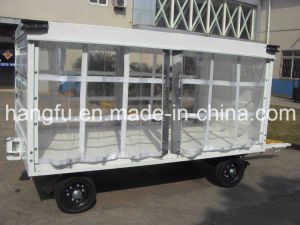 Airport Equippment Trailer Baggage Trolley Cart with Canopy (HFGP-01)