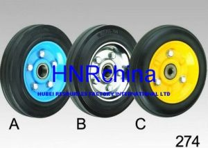 Black Rubber Steel Hub Wheel Heavy Duty Industrial Wheel pictures & photos