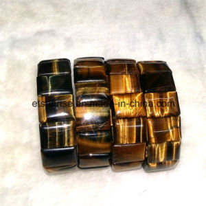 Natural Crystal Tiger Eye Beaded Bracelet Jewelry Bangles pictures & photos