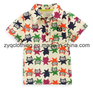 Kid′s Colorful T-Shirt, Turndown Collar T-Shirt for Kids pictures & photos