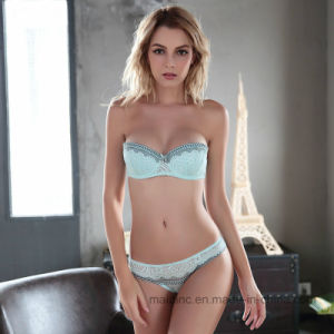 New Thin Cotton Cup Ladies Sexy Panty and Bra pictures & photos