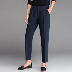 New Fashion Navy Blue Long Formal Wear Ladies Office Pants pictures & photos