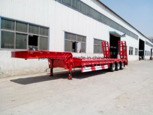 40-60 Ton Low Flatbed Semi Trailer 13meters Truck Trailer Trucks pictures & photos