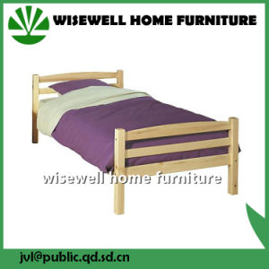 Pine Wood Double Bed for Hotel (WJZ-B77) pictures & photos